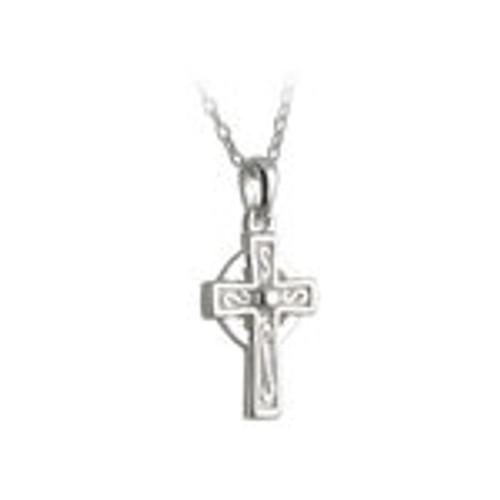 Kids Sterling Silver Celtic Cross Pendant S44722