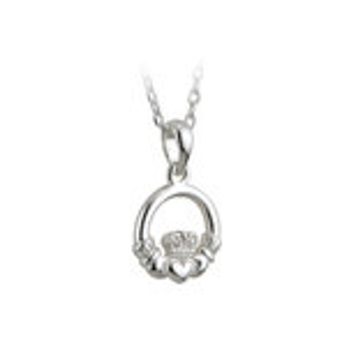 KIDS STERLING SILVER CLADDAGH PENDANT