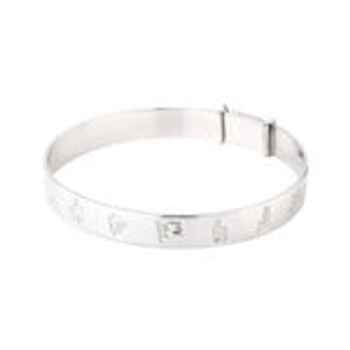 KIDS STERLING SILVER HISTORY OF IRELAND EXPANDING BANGLE