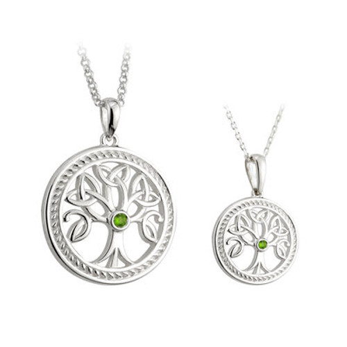 S/S Tree O'Life Mother & Daughter Pendant Set