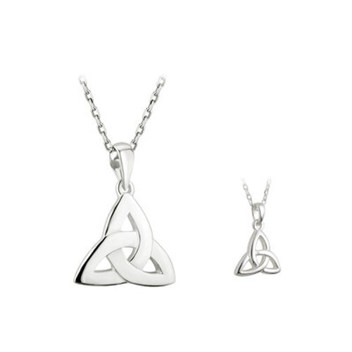 STERLING SILVER TRINITY KNOT  MOTHER & DAUGHTER PENDANT SET