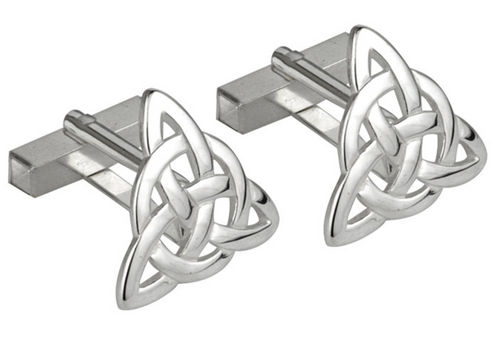 Silver Trinity Knot Cufflinks S6434