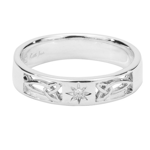 Sterling Silver and Diamond Trinity Ring sizes 5-10 by KEITH JACK PRS3371