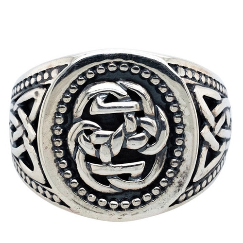 Sterling Silver Path of Life Large Ring (Tapered) sizes 6-13 by KEITH JACK PRS7943