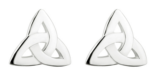 Silver Trinity Knot Stud Earrings S3644