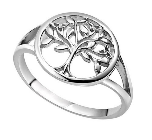 Sterling Silver Tree O'Life Ring S21122