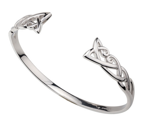 Sterling Silver Torque Bangle S5311