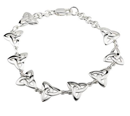 Silver Trinity Knot Linked Bracelet S5302