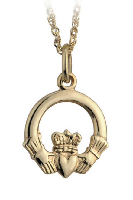 10k Gold Small Claddagh Pendant S4276