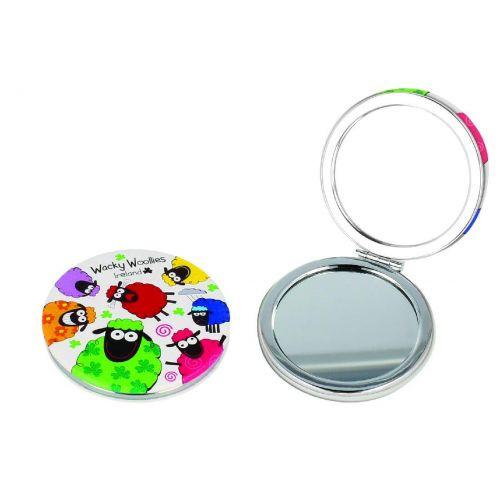 Wacky Woollies Ireland Compact Mirror Shamrock Gift Co. 3189