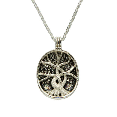 TREE OF LIFE 4-WAY PENDANT Sterling Silver and 22k Yellow Gold Gilding  By KEITH JACK PPS5955