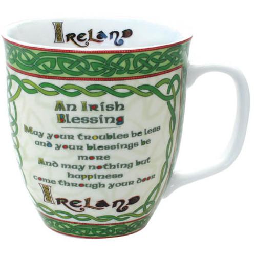 Celtic Collection Irish Blessing Mug  Ireland Shamrock  Gift Co. 4445