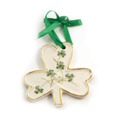 Watervale Irish Parian China Shamrock Ornament