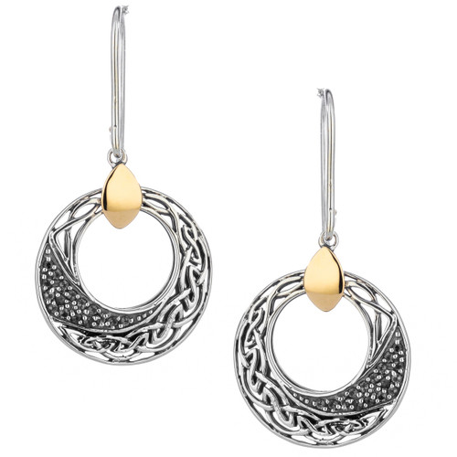 S/sil + 10k White Topaz Comet Round Hook Earrings By Keith Jack