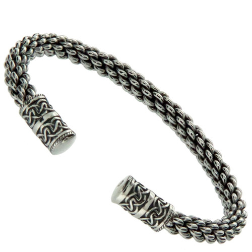 S/S Celtic Torc Small Bangle Bracelet PBS7650 KEITH JACK