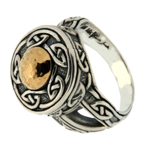 Sterling Silver and 18k Gold Solstice Ring (Tapered) by KEITH HACK PRX9215