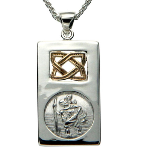 S/sil + 10k St. Christopher Pendant By Keith Jack