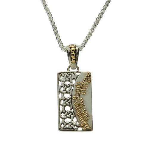 S/sil + 18k Ogham Pendant Cairdeas = Friendship By Keith Jack