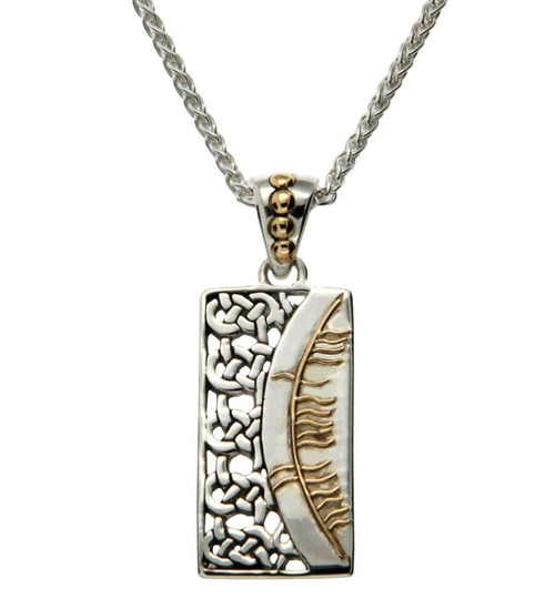 S/sil + 18k Ogham Pendant Sonas = Happiness By Keith Jack
