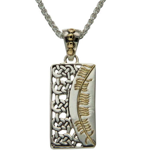 S/sil + 18k Ogham Pendant Misneach = Courage By Keith Jack