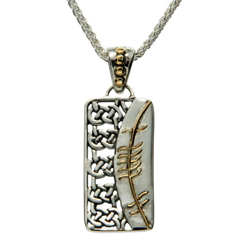 S/sil + 18k Ogham Pendant Gra = Love By Keith Jack