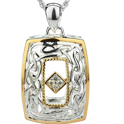 S/sil + 10k Window to the Soul Diamond (TW 0.06ct) Pendant By Keith Jack