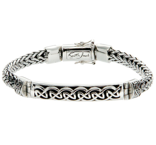 S/S Dragon Weave Eternity Bar Bracelet PBS7200 From The Keith Jack Dragon Weave Collection