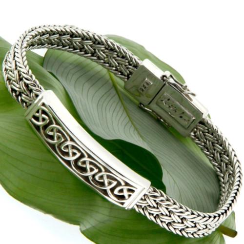 S/S Celtic Weave Eternity Bar Bracelet PBS7400 KEITH JACK