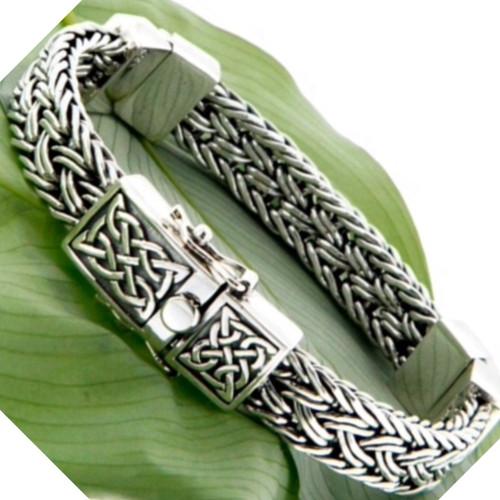 S/S Celtic Weave Eternity Hinged Bracelet PBS7444 KEITH JACK