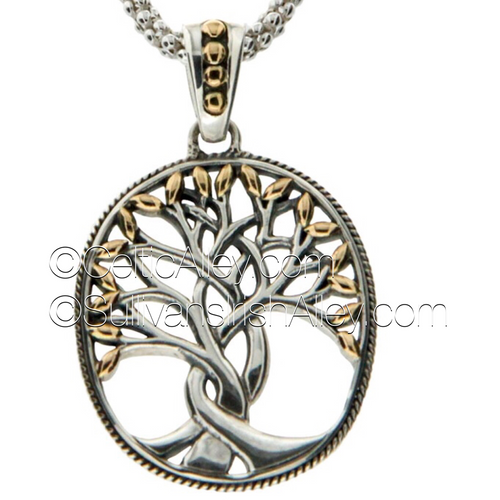 S/S and 18k Gold TREE OF LIFEPendant PPX9003 KEITH JACK (PPX9003)
