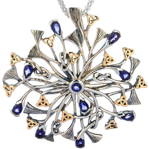 S/sil + 10k Rhapsody with 3.5mm Pear Shaped Iolite Pendant By Keith Jack