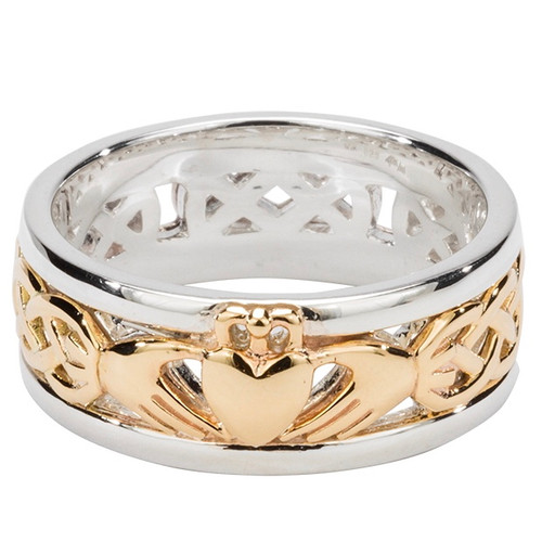 S/sil +10k Claddagh Wedding Ring   Sizes 5-15 By Keith Jack
