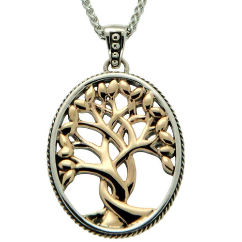 S/sil + 10k TREE OF LIFE Pendant By KEITH JACK