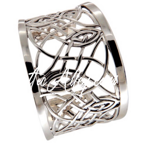 S/sil Intricate Celtic Knotwork Cuff By Keith Jack
