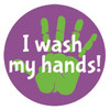I wash my hands stickers