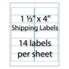 "Address Labels 1 1/3"" x 4"" 