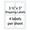 "Shipping Labels 3-1/2"" x 5"" 