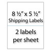 "Shipping Labels 8-1/2"" x 5-1/2"" 