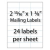 "Mailing Labels 2-13/16"" x 1-3/8"" 