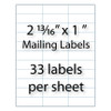 "2.8"" x 1"" Blank Mailing Labels 