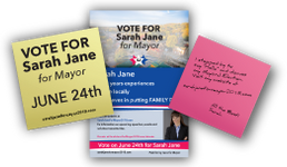 Campaigning with Post-it Notes