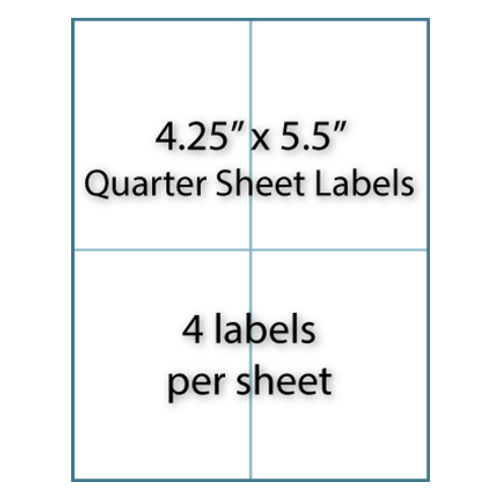 "Quarter Sheet Labels 4-1/4"" x 5-1/2"" | 4-up"