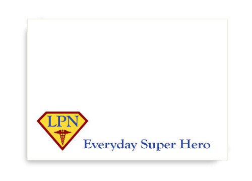 Superhero LPN Post-it Notes
