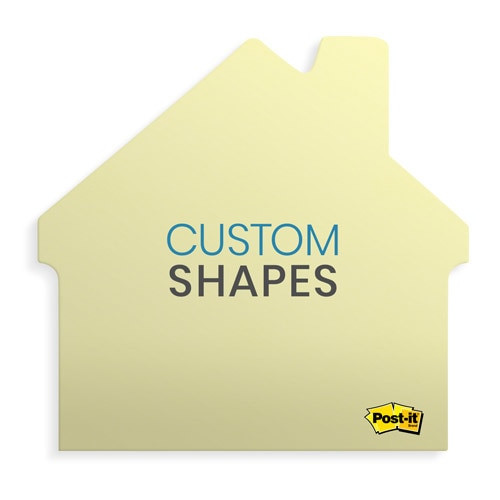 Printed Shaped Post-it Notes - NEW SHAPES