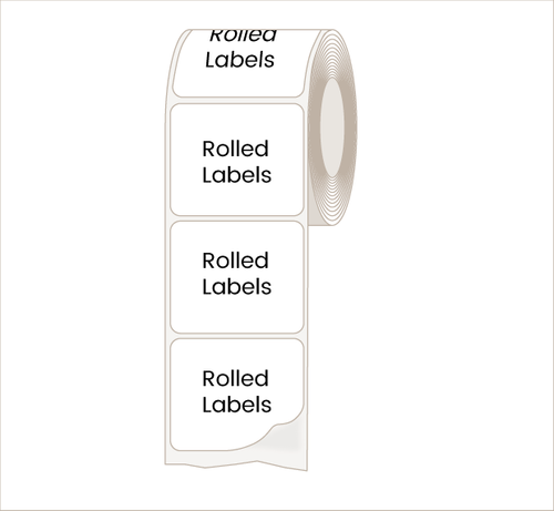 Squares and Rectangles Labels for Indoor Use