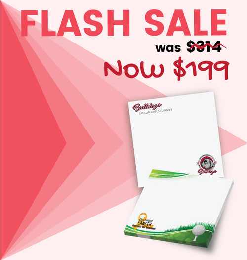 Flash Sale - Full Color - 3x3 - 500 pads of 25 sheets per pad