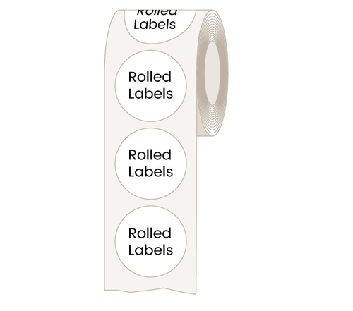 Circle and Oval Labels for Indoor Use