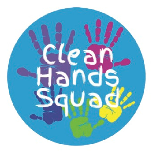 Clean Hands Squad Stickers