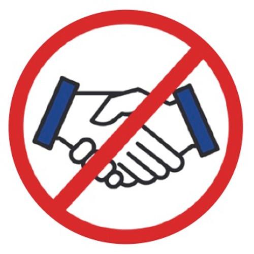 No Handshake Safety Stickers