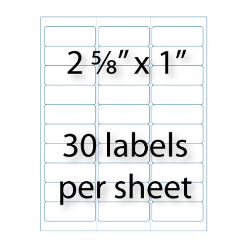 "Address Labels - 2-5/8"" X 1"" 
